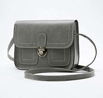 Light weight Leather Small Crossbody Bag Cross Over Purse Messenger Bags for Women Cross Body Shoulder Handbag Gary
