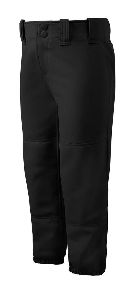 Mizuno Adult Women's Belted Low Rise Fastpitch Softball Pant, Black, Medium by Mizuno