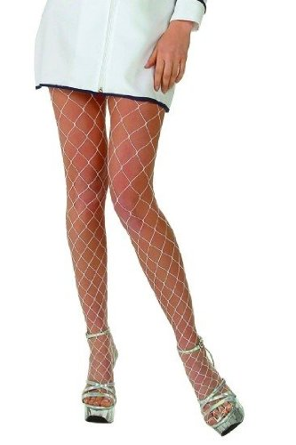 Fence Net Pantyhose Hosiery - One Size - Dress Size 6-12 (Fence Net Leg Warmers)