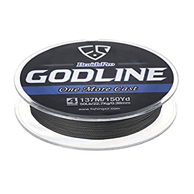 FISHINGSIR Godline Braided Fishing Lines PE Braid Superline, Super Power and Abrasion Resistant,110Yds-1094Yds,8LB-120LB