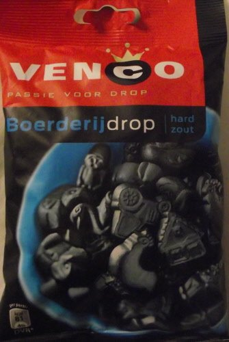 Venco Boerderij Drop hard Zout/Farm Licorice hard salty, 6.1 oz