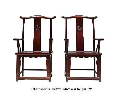 Amazon.com: Chino Par Huali Rosewood yoki-back sillones ...