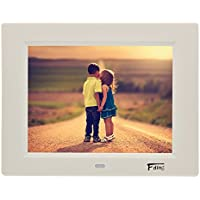 8 Inch 1024x600 Hi-Res LED Digital Photo Frame & HD Video Playback with 8GB SD Card-White