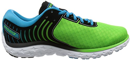 Brooks PureFlow 6, Scarpe da Corsa Uomo Multicolore (Greenflash/Black/Hawaiianocean)