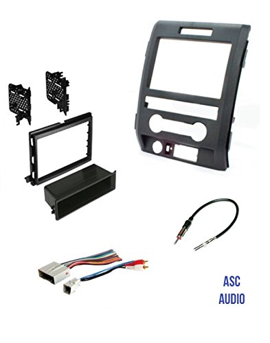 ASC Audio Car Stereo Radio Install Dash Kit, Wire Harness, and Antenna Adapter to Add an Aftermarket Radio for some Ford Vehicles - Vehicles Listed Below -