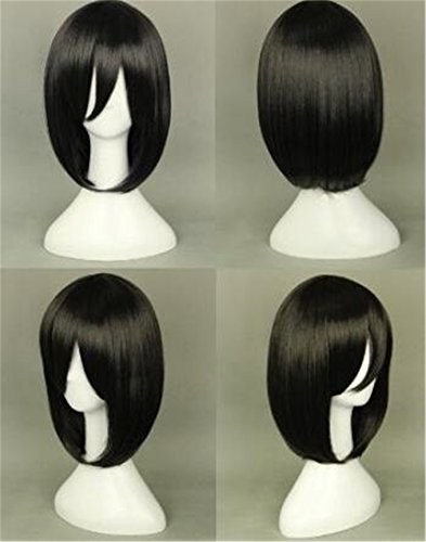 Price comparison product image Futuretrend Attack on Titan Cosplay Wig (BOBO Black - Mikasa Ackerman)