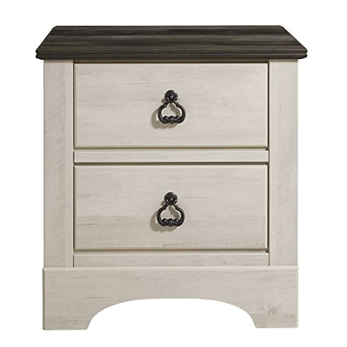 Standard Furniture 51207 Rivervale Distressed 2 Drawer Nightstand, White