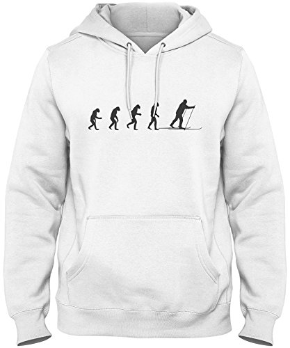 ShirtLoco Men's Evolution Of Man To Cross Country Skier H...