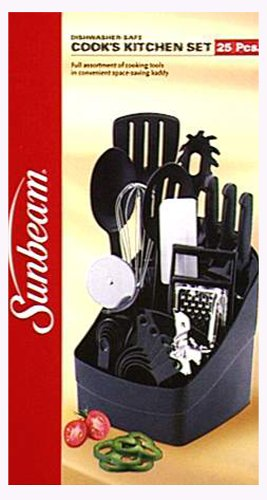 Amazon Com Sunbeam 25 Piece Cook S Tool Set Black Kitchen Tool