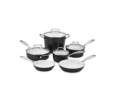 Advantage Nonstick 11 Piece Cookware Set Black