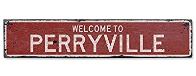 Welcome to Perryville Vintage US Perryville, Kentucky Distressed Custom Wooden City Sign Vintage Plaque Sign Wood Wall Decor