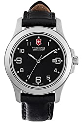 Victorinox Swiss Army 241389 Womens Watch Garrison,Black Dial,Black Leather Strap Mothers Day Gift