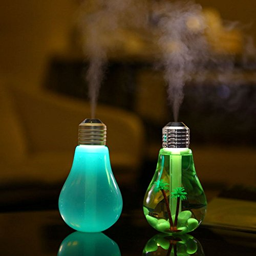 電球型加湿器 LED付き 卓上加湿器 卓上 オフィス USB加湿器 ミニ加湿器 超音波式加湿器 ミニ 加湿機 卓上 オフィス マイクロミスト デスク ホテル 省エネ 静音