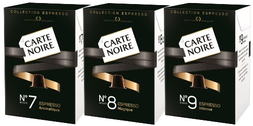 carte noire no 9 intense espresso coffee capsules 2 x 10 packs nespresso compatible buy. Black Bedroom Furniture Sets. Home Design Ideas