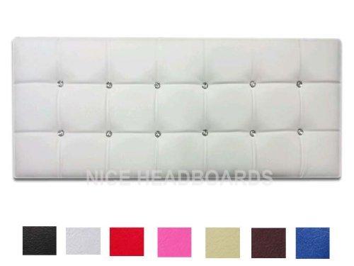 Cream Faux Leather Headboard - 7