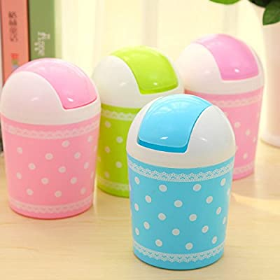 WHOSEE Mini Trash Basket Garbage Can Wastebasket Office Home Desktop Dustbin Container