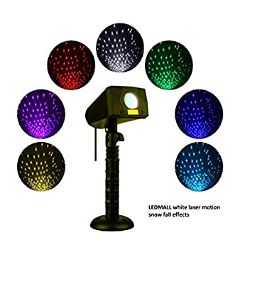 LedMAll® Motion Snow Fall Full Spectrum Star Effects 7 Color White Laser Christmas Lights Decorative Lights Remote Control