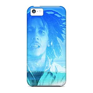 Best Hard Cell-phone Cases For Iphone 5c With Customized Colorful Bob Marley Pattern AlissaDubois