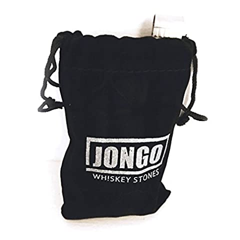 Whiskey Chilling Stones Gift Set of 10 | For Irish Scotch, Jack Daniels & Other Beverages | Ice Rocks - Stainless Steel Tongs - Velvet Pouch - Groomsmen Gifts for Wedding - Drink Cubes