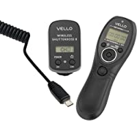 Vello Wireless ShutterBoss II Remote Switch with Digital Timer for Sony Multi-Terminal - Sony: a3000, a5000, a6000, a7, a7R, a7S, a77II, HX300, HX400, HX50v, RX100 Mark II, RX100 Mark III, a58