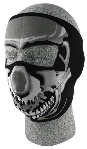 Zan Headgear Full Face Mask Chrome Skull OSFM