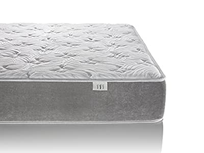 Brentwood Home Posture Plus 11-inch Inner Spring Mattress, 100% Made in USA, CertiPUR-US, All Natural Wool Sleep Layer
