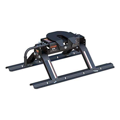 CURT 16116 E16 5th Wheel Hitch with Base Rails, 16,000 lbs