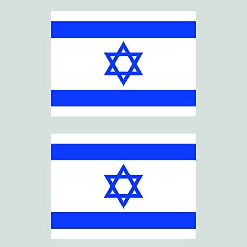 ISRAEL FLAG Decal Vinyl Sticker chrome or white vinyl decal and 15 sizes!