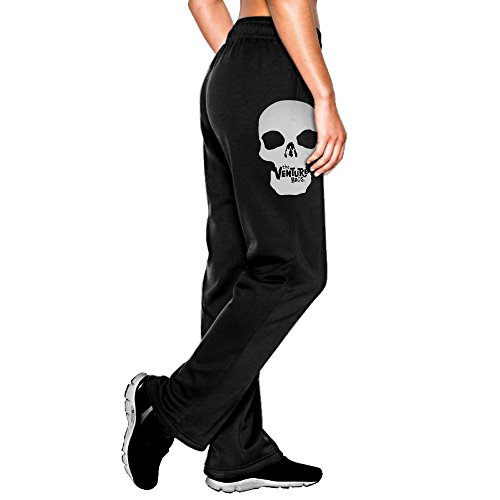 (MEGGE Women's Venture Bros Comfortable Fleece Pant Black M)