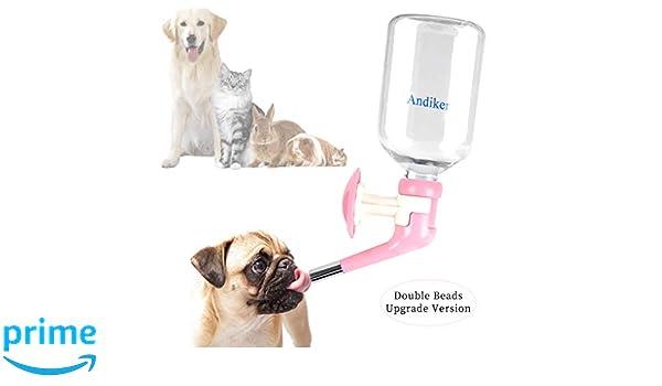 Andiker Dispensador de Agua para Mascotas, sin Goteo, para Perros ...