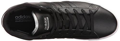 Sneakers Adidas Da Donna Al Giorno Cloudfoam Qt Mid Fashion Nero / Nero / Argento Metallizzato