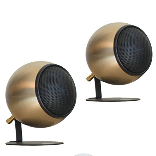 Orb Audio Mod1 Round Stereo & TV Speakers -Antiqued Bronze by Orb Audio