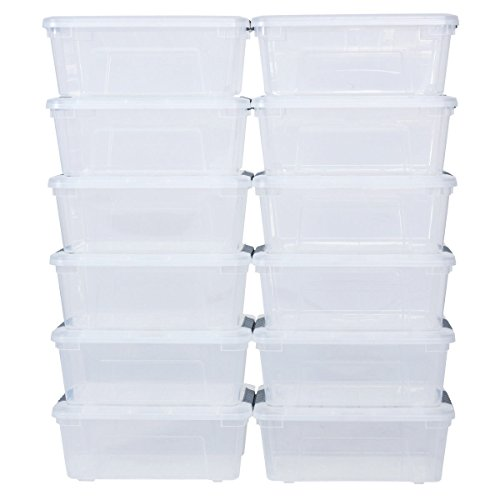 Liter Latch Stack Storage Box Tubs Bins Latches Organizer Allblessings ()