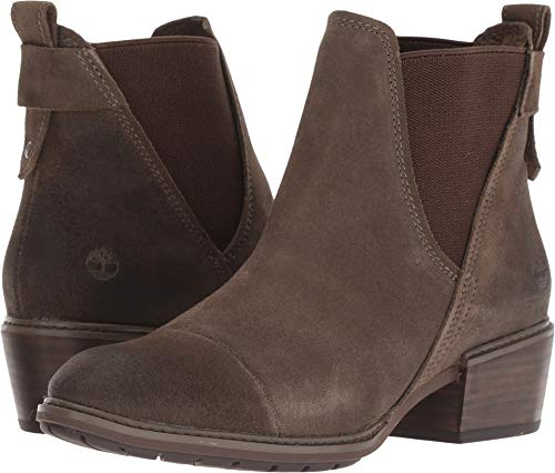 Women Ankle Timberland Boot (Timberland Sutherlin Bay Double Gore Chelsea Boot - Women's Olive Suede, 9.0)