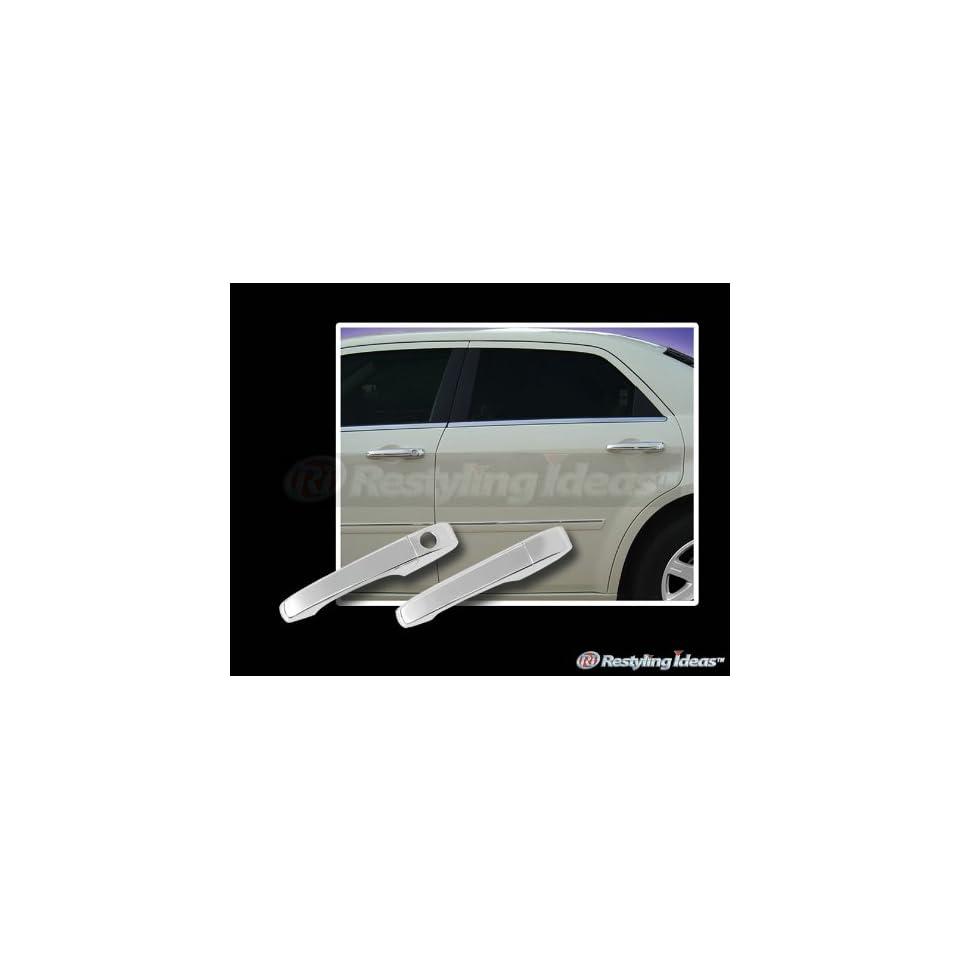 2011, 2012, 2013 Chrysler 200 (4 Door) Chrome Door Handle Covers (4 Door Set / NO Passenger Side Keyhole / NO Smart Key)