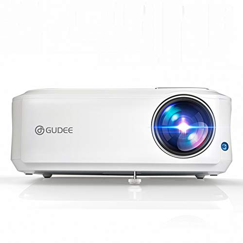 Native 1080P Projector, GuDee Full HD Video Projector for Business PowerPoint Presentation, 5000 Lux Movie Projectors for Home Theater, Compatible with Laptop iPhone Android HDMI USB Fire TV -