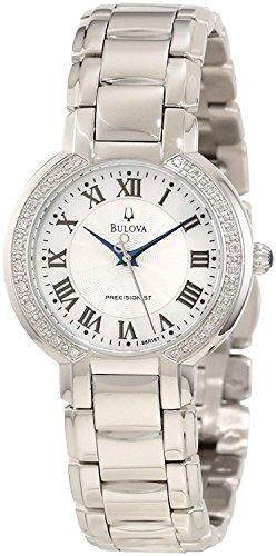 Bulova Precisionist Womens 96R167 Fairlawn Diamond Accents Bracelet 32mm Watch (Renewed) ()