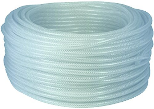 Dixon IBR0812 Imported Clear PVC Braided Tubing, 1/2'' ID x 3/4'' OD, 300' Coil