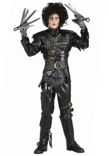 Rubies Mens Deluxe Edward Scissorhands Grnd Herit Theme Party Costume, Standard (up to 44) -