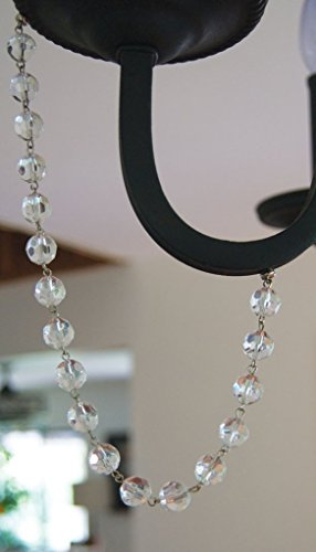 Magnetic Crystal Garland by MagTrim, Faceted Crystal Beads, Each Strand 12 Inches Long, Set of 3 (Magnetic Chandelier Crystals)