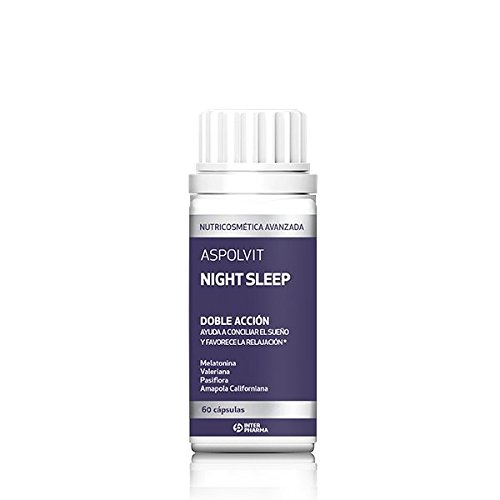 ASPOLVIT - Night Sleep Suplemento natural con melatonina que ayuda a dormir mejor y elimina el insomnio - 60 Cápsulas: Amazon.es: Salud y cuidado personal