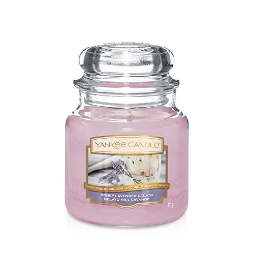 Sunday Brunch Collection by Yankee Candle Medium Jar Candle, Honey Lavender Gelato