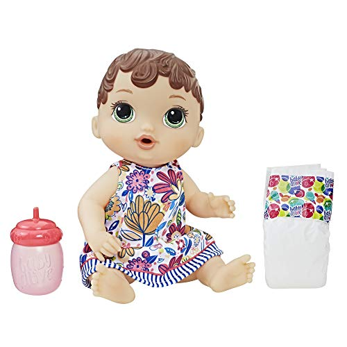Baby Alive HAS-E0499-AX00 Lil Sips Brunette Baby Girl for sale  Delivered anywhere in USA