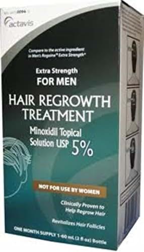 Mens Minoxidil 5 Percent extra strength hair regrowth treatment solution - 2 Oz