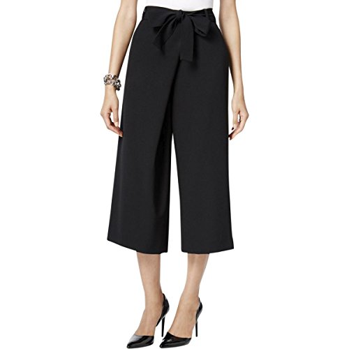 Anne Klein Women's Wide Leg Tie Front Pant, Black, 12