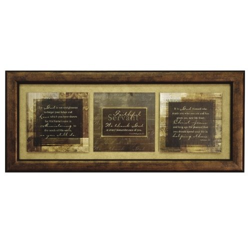 Carpentree Faithful Servant Framed Art, 9 by 20 by 1 inch