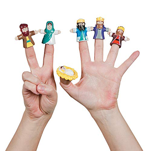 Fun Express - Nativity Finger Puppets (2dz) for Christmas - Toys - Character Toys - Finger Puppets - Christmas - 24 Pieces