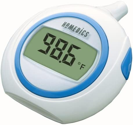 HoMedics Large Readout One Second Ear Baby Infant Thermometer Digital Memory