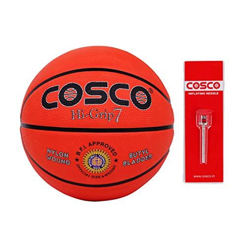 Cosco Hi Grip Basket Balls, Size 7  Orange
