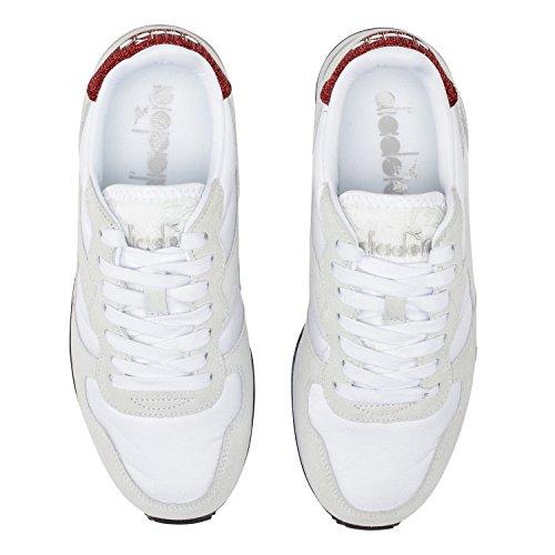 Diadora Camaro WN, Chaussures de Gymnastique Femme, Noir 20006 - BLANC